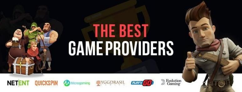 The best game providers